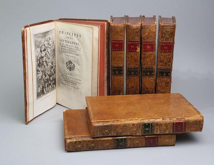 Volumes belonging to Batteux's 5th edition of the 'Principes de la littérature'